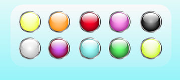 Vector buttons Royalty Free Stock Images