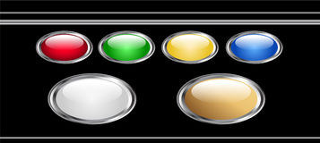 Vector buttons Royalty Free Stock Photo