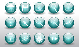 Vector buttons Royalty Free Stock Photography