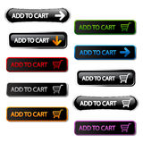 Vector buttons - add to cart Stock Photo