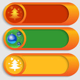 Vector buttons with a Christmas theme Royalty Free Stock Image