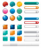 Vector buttons for internet. High details vector illustration of internet buttons Stock Images