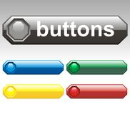 Vector buttons - octagon Royalty Free Stock Photos