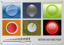 Vector buttons pack. Vector pack of different buttons Royalty Free Stock Image