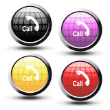 vector buttons with phone symbol Stock Photography