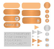 Vector buttons polished copper Royalty Free Stock Photo