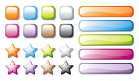 Vector buttons set Royalty Free Stock Image