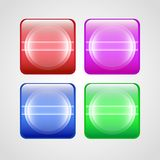 Vector buttons set. Stock Photography