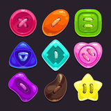 Vector buttons Stock Image