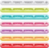 Vector buttons set templates for web Stock Photography