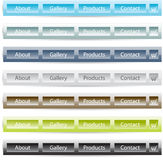 Vector buttons set templates for web Stock Photos
