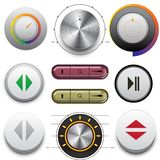 Vector Buttons Set for Web and Mobile Stock Photography