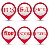 Vector buttons slang words Royalty Free Stock Photography