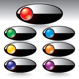 Vector buttons for web design vector illustration