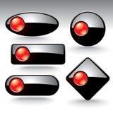 Vector buttons for web design Royalty Free Stock Photos