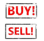 Vector buy end sell stamp Stock Photography