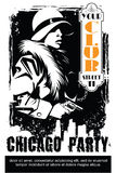 Vector BW Illustration. Template flyers. Sin City party.  Stock Photos
