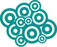 Vector círculos Fotografia de Stock Royalty Free