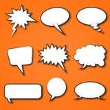 Vector cómico de la burbuja del discurso Imagen de archivo libre de regalías