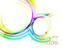 Vector cóncavo colorido ilustración del vector