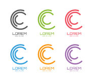 Vector c logo template set. Abstract circle shape Stock Image