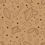 Vector cacao seamless Stock Images