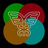 Vector caduceus symbol - healthcare vector illustration