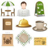 Vector Cafe Icons Stock Photos