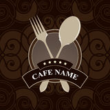 Vector. Cafe menu, cover design Royalty Free Stock Photography