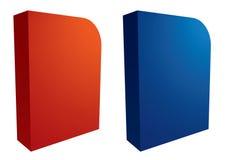 Vector caixas do software ilustração stock