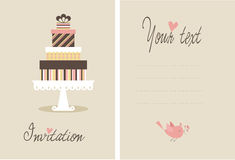 Vector cake Royalty Free Stock Photo