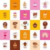 Vector cake logo stock illustration