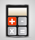 Vector calculator icon with gray buttons Stock Image