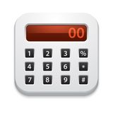 Vector calculator icon Royalty Free Stock Images