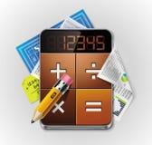 Vector calculatorXXL gedetailleerd pictogram Stock Foto's
