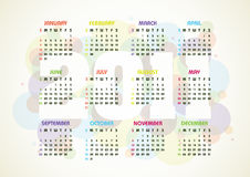 Vector Calendar Stock Photography