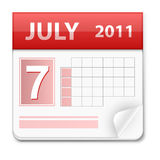 Vector calendar Royalty Free Stock Images
