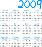 Vector calendar 2009 Royalty Free Stock Photo
