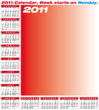 Vector Calendar 2011 Royalty Free Stock Photos