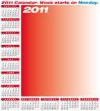 Vector Calendar 2011 stock illustration