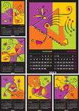 Vector calendar 2012. Editable and scalable six pages vector calendar 2012 royalty free illustration