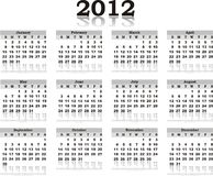 Vector calendar 2012. On white paper Vector Illustration