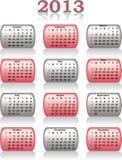 Vector calendar 2013 Royalty Free Stock Photography