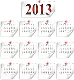 Vector calendar 2013 Stock Photos