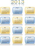 Vector calendar 2013 Royalty Free Stock Images