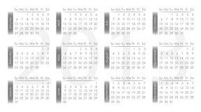 Vector calendar 2013. Gray and white vector illustration