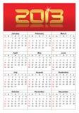 Vector calendar 2013 Stock Photo