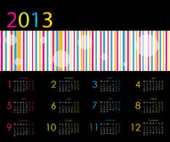 Vector calendar for 2013 Royalty Free Stock Photography