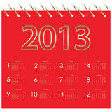 Vector calendar 2013 Stock Photography