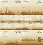 Vector calendar. Abstract vector calendar illustration design Royalty Free Stock Photo